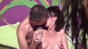 Big butt amateur sucks dick and fucks on holidays in HD