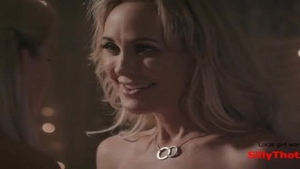 'SillyThots.com - Two kinky blond MILFs Bring Each Other To agonorgasmos'