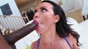 Teen chick gonzo cum gargling at the casting