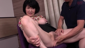 Japanese in sexy stockings