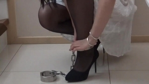 Asian female bondage solo