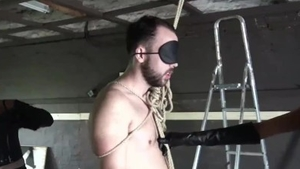 Fetish ballbusting in company with kinky mistress