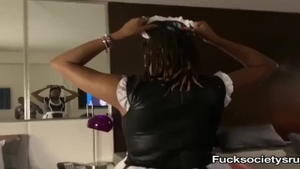 Maid goes for plowing hard