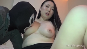 Hard ramming accompanied by plump japanese brunette