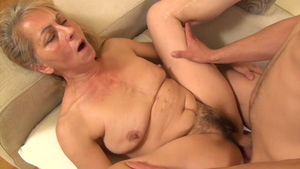 Young and skinny granny fetish rides a hard dick