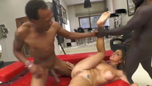 Brunette Malena Nazionale having fun with BBC guy