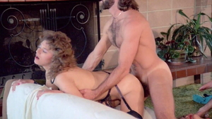 Hairy Colleen Brennan in stockings raw blowjobs threesome HD