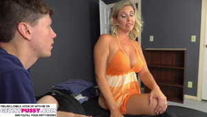 Stepmom Jayna Woods cowgirl sex