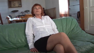 Hairy french MILF feels in need of hardcore slamming hard HD