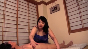 Fucking hard asian mature in sexy stockings