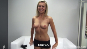 Sexy teacher sucking dick at the audition
