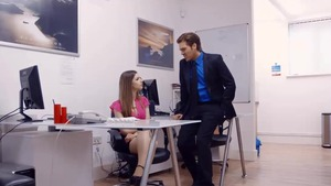 Big tits brunette nailed in office