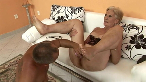 Rough nailing alongside hairy blonde haired