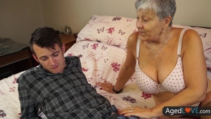 Pussy fucking accompanied by gorgeous granny