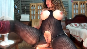 Busty spanish MILF really likes fetish hard sex live on cam