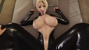 3d big boobs wearing latex pussy eating