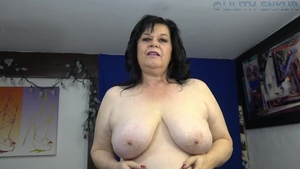 Big boobs and chubby amateur POV stroking solo