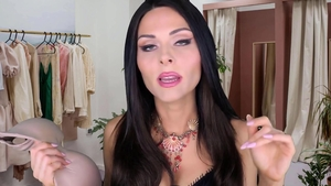 Solo in the bra MILF roleplay