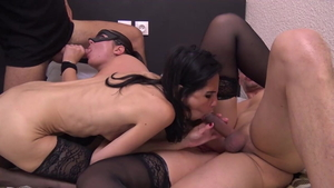 Group sex hairy pussy french