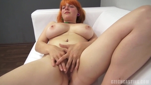 Redhead does what shes told at the castings
