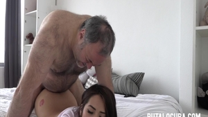 Hard ramming along with sexy latina amateur
