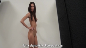 Small tits petite czech babe at castings