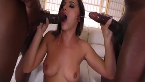 Young and lustful Adriana Chechik anal interracial