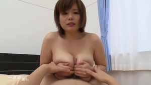 Ramming hard in the company of large boobs japanese