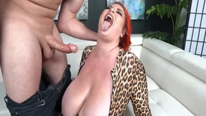 Mischievous Kitty cock sucking scene