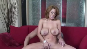 Rough nailing in company with busty latina MILF