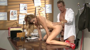 Perfect stepmom Lexi Belle hard does what shes told in office
