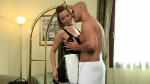 Maid Cindy Dollar wearing panties ramming hard