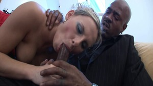 Plowing hard hottest blonde in stockings