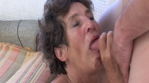 Real sex together with hairy granny