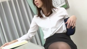 Japanese Riko Miyase gets a buzz out of uncensored creampied