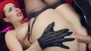 Fetish sucking dick in company with stunning bombshell