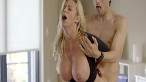 Good fucking escorted by large tits stepmother Alexis Fawx