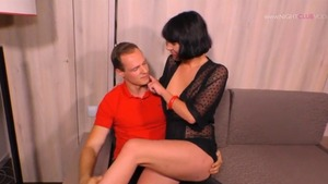 Pussy fucking shaved german in high heels