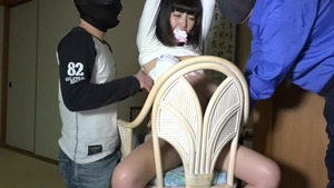 Fantasy BDSM in company with japanese brunette