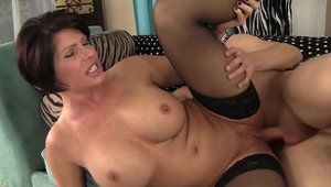 Young & large boobs MILF Shay Fox cowgirl sex