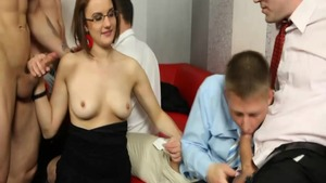 Big butt babe Barra Brass likes raw dick sucking at the party