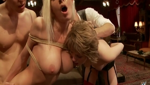 BDSM along with big tits blonde babe